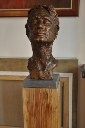 2019, HERMAN, portret in brons 45 cm hoog